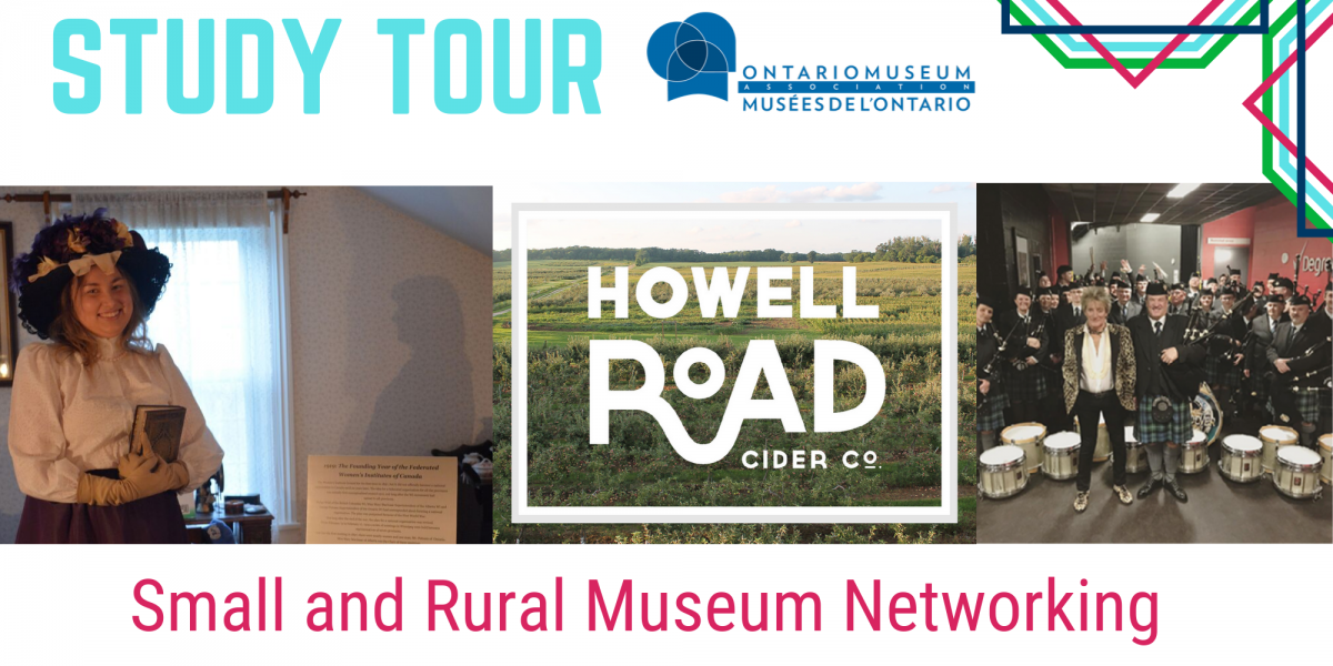 Small and Rural Museum Networking, Image of Adelaide Hunter Hoodless, Howel Road Cider Co, and Paul McCartney with a Pipe Band