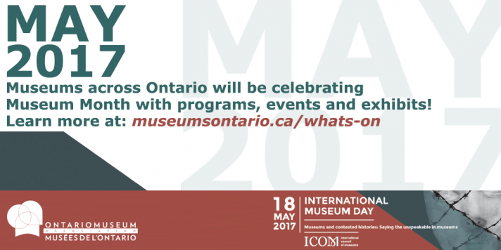 International Museum Day & May is Museum Month 2017