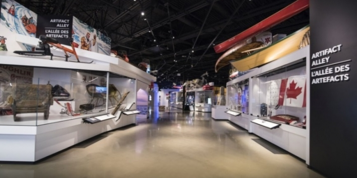 View of exhibit space in the Canada Science and Technology Museum