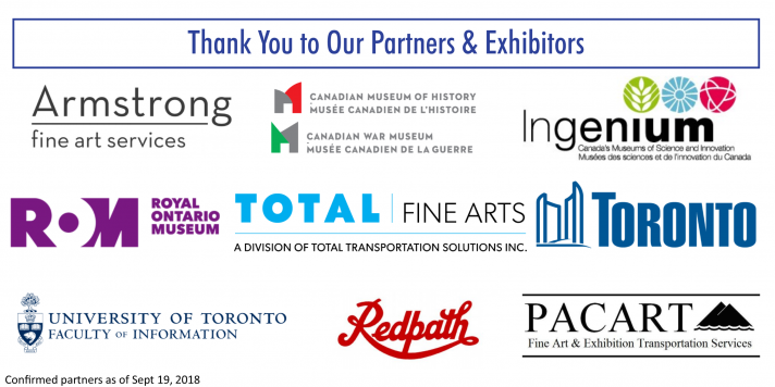 Thank you to our partners: Armstrong Fine Arts, Canadian Museum of HIstory, Ingenium, ROM, Total Fine Arts, City of Toronto, University of Toronto, Redpath, Pacart