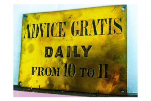 Advice Gratis Sign