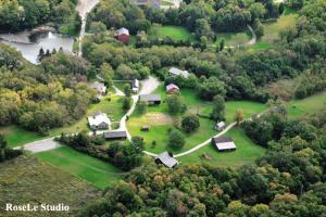 Backus Heritage Village Aerial View