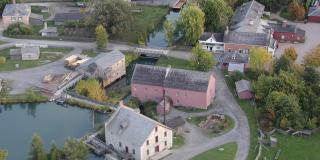 Aerial view of part of Upper Canada Village