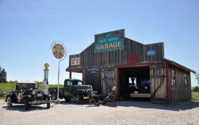 Bluewater Garage at Moreston Heritage Village