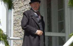 A Costumed Guide at  Hutchison House  Museum