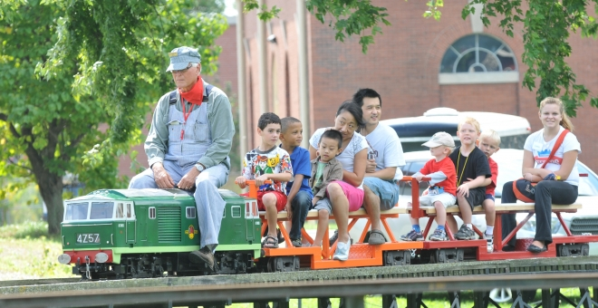 Miniature Steam Train rides at the Hamilton Museum of Steam & Technology